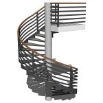 Spiral staircase in two configurations: Metal and ...