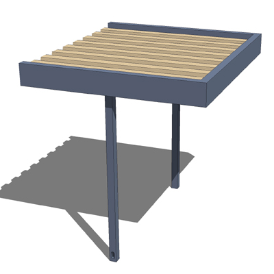 Modular extruded aluminum walkway canopy. 3D Model  sc 1 st  FormFonts & Modular extruded aluminum walkway canopy. 3D Model - FormFonts 3D ...