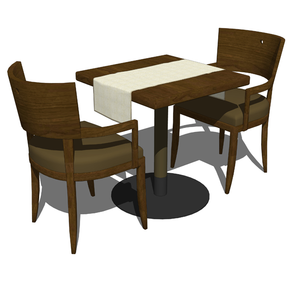 Restaurant dining set d model formfonts models
