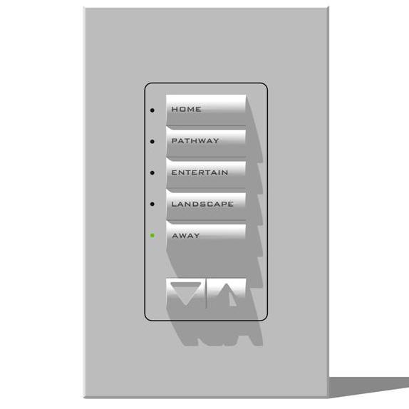 Lutron RadioRA Series Foyer Switches. Text is actu....