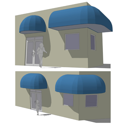 Blue Waterfall Awning 3d Model Formfonts 3d Models