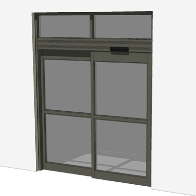 Bronze storefront automatic sliding entry. Doors a. : sketchup doors - pezcame.com