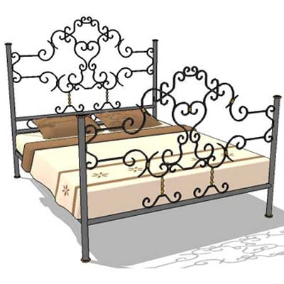 view larger image of wrought iron bed