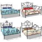 Collection of wrought iron beds