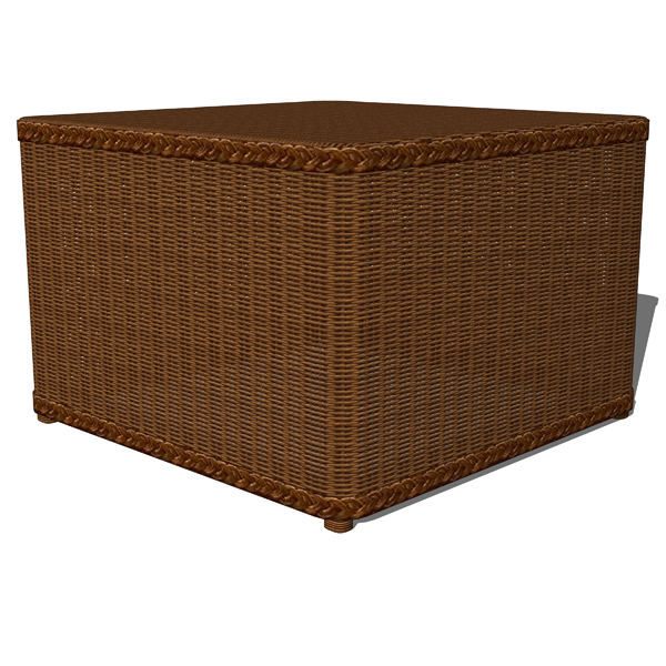 Palmetto Honey and White all weather wicker round ....
