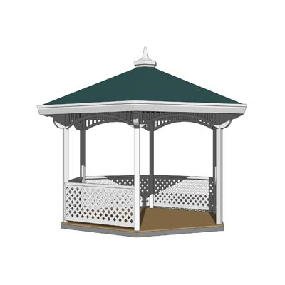 A set of four Gazebos.