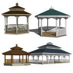 A set of four Gazebos