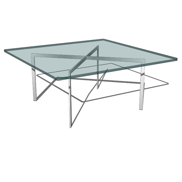 Mies Van Der Rohe´s MR Table, Barcelona Tabl.