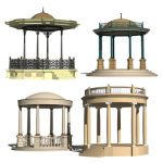 Four luxury gazebos