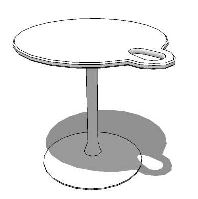 Table with cup holder