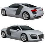 The Audi R8 is a mid-engined sports car introduced...