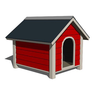 Dog House Set A 3D Model - FormFonts 3D Models & Textures
