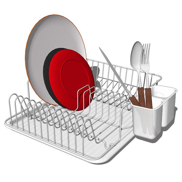 Kitchen Rack Set: FormFonts 3D Models & Textures