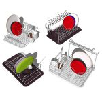 4 different sets of kitchen dish racks. Models inc...