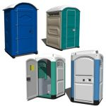 A portable toilet, also known as a port-a-potty, i...