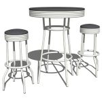 Cafe retro table and stools. This set 