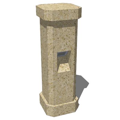 Stonelight Malaga Bollard 3D Model - FormFonts 3D Models