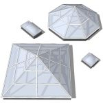 Four skylights.  Each skylight cuts an opening whe...