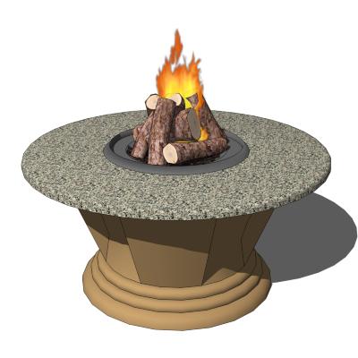 San Simeon Fire Pit 3d Model Formfonts 3d Models Amp Textures
