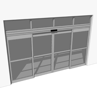 Storefront Doors nabco gt 1175 automatic dual sliding storefront entry doors. 3d