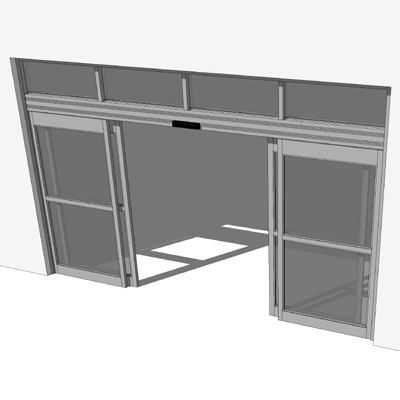 Nabco gt 1175 automatic dual sliding storefront entry for Sketchup door