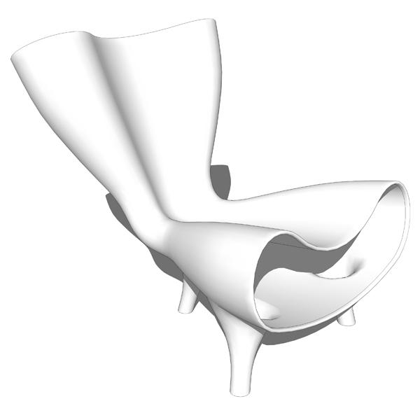 Artificial´s Orgone chair by Marc Newson. Sh..  sc 1 st  FormFonts & Orgone chair 3D Model - FormFonts 3D Models u0026 Textures