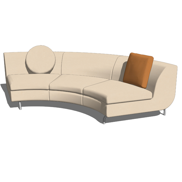 Dubuffet Sofa System Part 3 3d Model Formfonts 3d Models