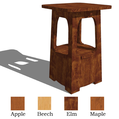 4 small arts and crafts tables 3d model formfonts 3d for Arts and crafts style table
