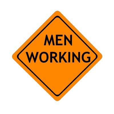 Image result for image, photo, picture, men working construction sign