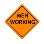 US Men Working construction sign; code W21-1