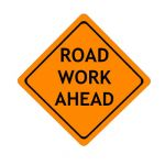 US Road Work construction sign; code w21-4