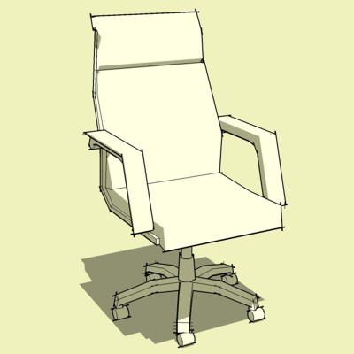 Archetype Lo-Poly Generic Desk Chairs. High Back M....