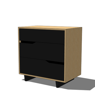 Ikea mandal chest of drawers 3d model formfonts 3d for Modelli sketchup ikea