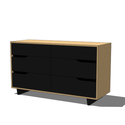 ikea mandal chest of drawers 3d model formfonts 3d models textures. Black Bedroom Furniture Sets. Home Design Ideas