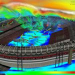 Airflow simulation over Candlestick Park, San Fran...