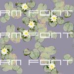 A seamless water lily texture, approx 6ft / 2m squ...
