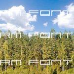 Backdrop of trees and clouds; 1024 pixels square
